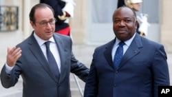 Shugaban Faransa Farncois Hollande da Shugaban Gabon wanda aka ce shi ya sake lashe zaben kasar