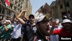Người ủng hộ Tổng thống Ai Cập bị lật đổ Mohamed Morsi xuống đường biểu tình tại trung tâm thành phố Cairo.