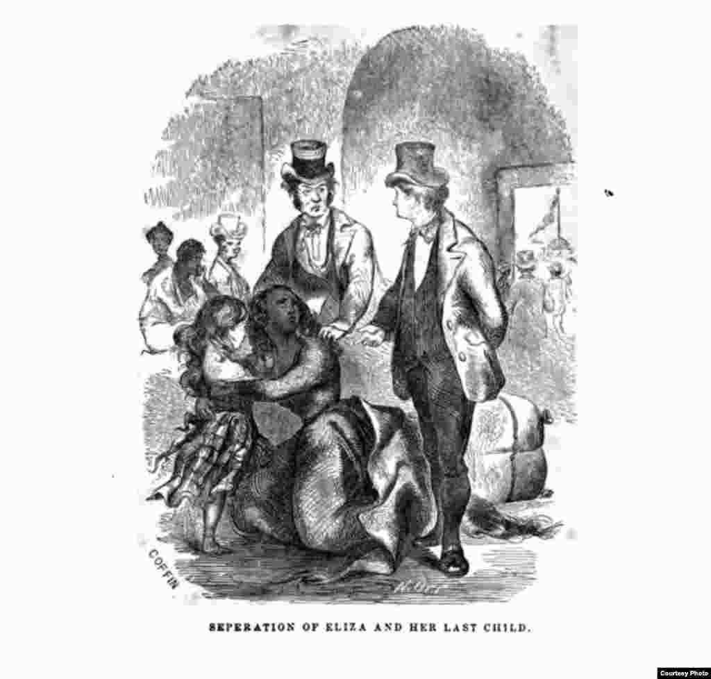 A woodblock print from the original 1853 publication of Twelve Years a Slave.