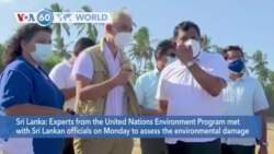 VOA60 World - Sri Lanka: U.N. experts assess the environmental damage caused by the sinking of a cargo ship