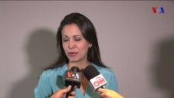 M.C. Machado reacciona a diálogo con Maduro