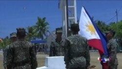 菲军在同中国有争议岛上宣示主权