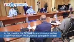 """VOA60 Africa - ECOWAS """"reassured"""" that Mali's leaders intend to restore civilian rule"""