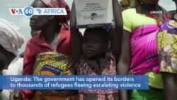 VOA60 Africa - Uganda has opened its borders to thousands of refugees from DRC