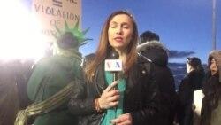Informe sobre protestas en aeropuerto JFK de Nueva York