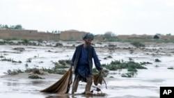 په جوزجان کې یو سیلاب ځپلی