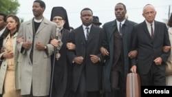 """Escena de la marcha en """"Selma""""."""
