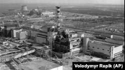 Чернобыльская АЭС. Снимок 1986 г.
