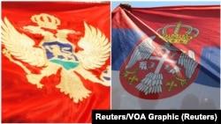 Zastave Crne Gore i Srbije, ilustrativna fotografija (Foto Reuters)
