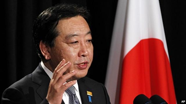 Japanese Prime Minister Yoshihiko Noda speaks during a press conference in Honolulu, November 13, 2011.