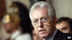 Economist Mario Monti announced Wednesday he has formed a new Italian government, opting to put technocrats instead of bickering politicians in his cabinet to enact reforms that can save the country from financial disaster, November 16, 2011.