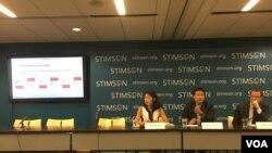 史汀生中心專家討論台灣新南向政策與美台關係(美國之音鍾辰芳拍攝)