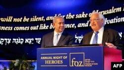 دیوید فریدمن، سفیر آمریکا در اسرائیل در کنار بنیامین نتانیاهو