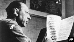 Игорь Стравинский в США. Архивное фото, 21 октября 1948.