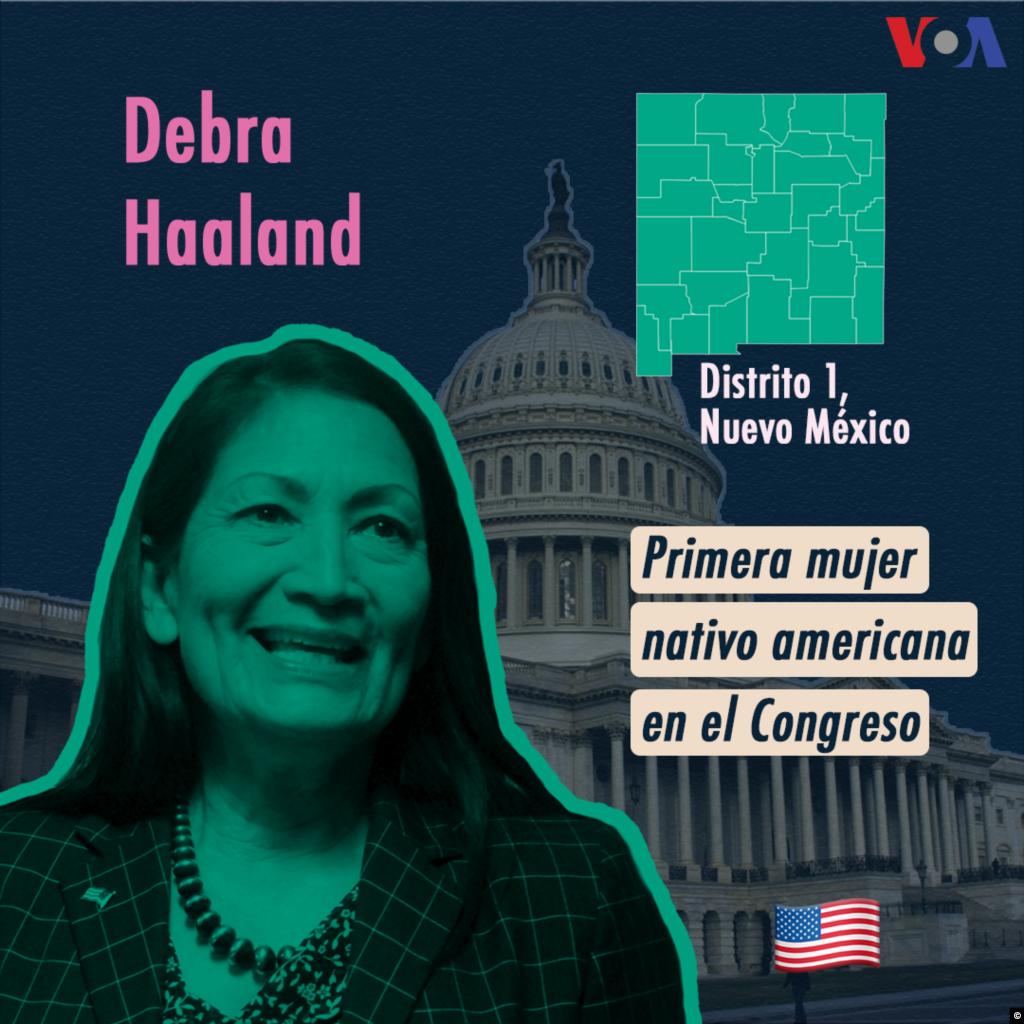 Junto con Sharice Davids, la activista comunitaria Debra Haaland, del estado de Nuevo México, se convirtió en la primera mujer nativo americana en llegar al Congreso de Estados Unidos. Durante su campaña, Haaland se refirió a la política migratoria del gobierno de Trump, en especial la separación de familias en la frontera, y trazó paralelos con la forma en la que se separaban niños nativo americanos de sus padres.