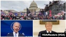 Washington, Capitol Hill, uMnu. Joe Biden loMongameli Donald Trump.