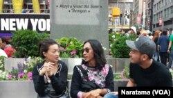 Chef Priscilia, Aming dan Vicko (Foto: VOA/Naratama)