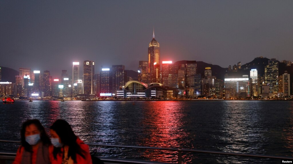 香港夜景(路透社2021年3月11日)