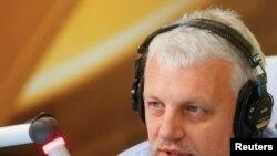 Павел Шеремет в эфире украинского радио. Архивное фто.