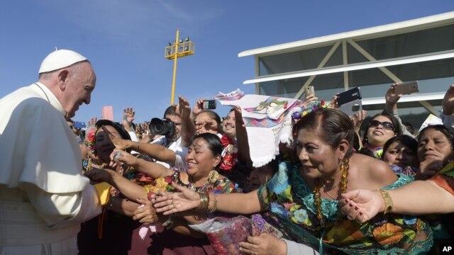 Папа Римский Франциск. Мексика. 15 февраля 2016 г.