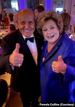 Pamela Latković Kolins i advokat predsednika Trampa, bivši gradonačelnik Njujorka Rudi Đulijani (Foto: Pamela Latković Kolins)