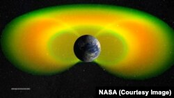 The Van Allen belts around our planet protect the Earth from many forms of radiation. Scientists say they have found that VLF radio waves act to clear the lower Van Allen belts of harmful electrons.