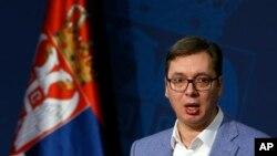 Premijer Srbije Aleksandar Vučić (AP Photo/Darko Vojinovic)