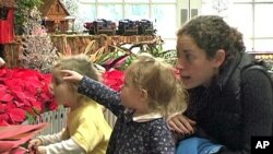 Children are amazed by the trains and the characters from children's stories and fables