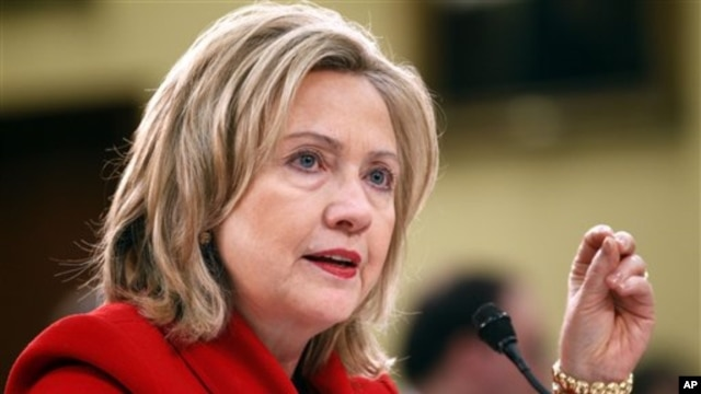 Secretary of State Hillary Rodham Clinton testifies during the Foreign Operations, and Related Programs Budget hearing at Capitol Hill in Washington, March 10, 2011