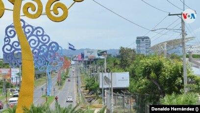 Una vista de Managua, capital de Nicaragua. Foto Donaldo Hernández, VOA.