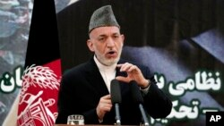 File - Afghan President Hamid Karzai pictured on June 18, 2013.