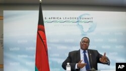 FILE - Malawi's President Peter Mutharika, August 2015.