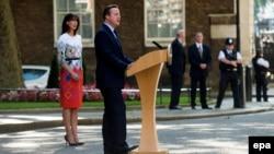 Thủ tướng Anh David Cameron phát biểu sau khi có kết quả cuộc trưng cầu dân ý về việc nước Anh rút ra khỏi EU ngày 24/6/2016.