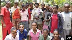 Uncircumcised girls at Mesafie village, southern Ethiopia