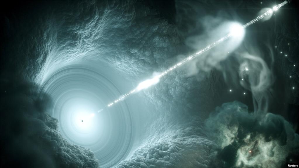 შავი ხვრელის კონცეპტუალური ნახატი