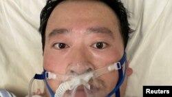 Dr Li Wenliang kafin rasuwarsa