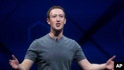 Giám đốc điều hành Facebook Mark Zuckerberg.