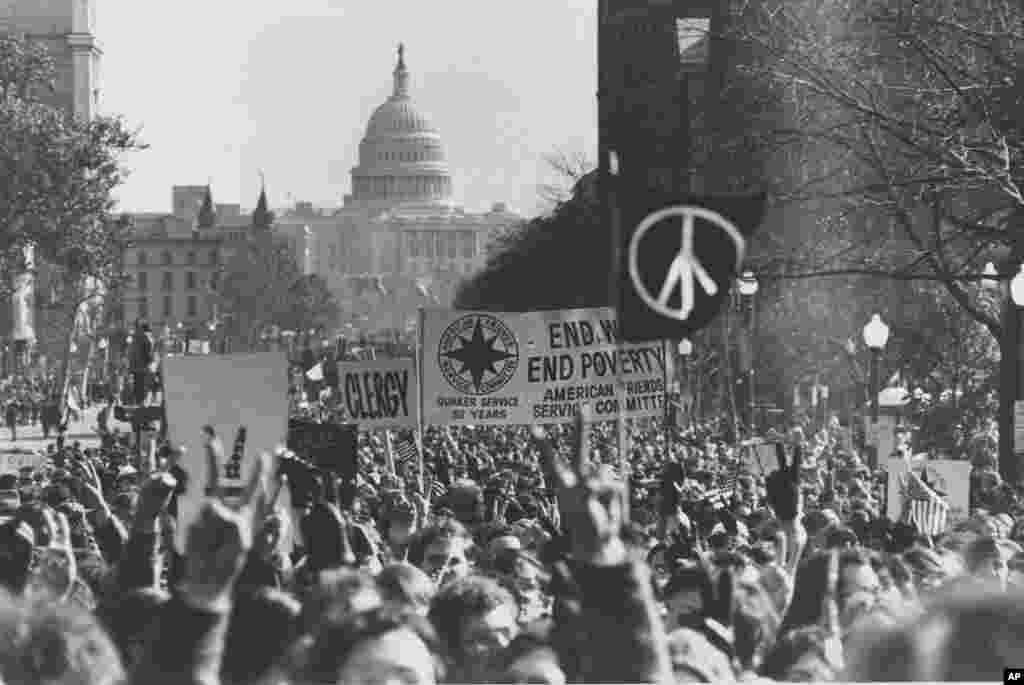 امروز در تاریخ: سال ۱۹۶۹، تظاهرات علیه جنگ ویتنام در واشنگتن دی سی.