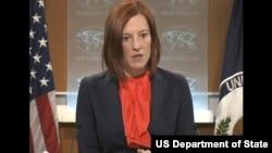 Juru bicara Departemen Luar Negeri Amerika, Jen Psaki (7/3).