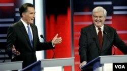 El ex gobernador de Massachusetts, Mitt Romney y el ex presidente de la Cámara de Representantes, Newt Gingrich, intercambiaron críticas.