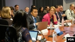 Salah seorang pembicara, Irwan Saputra, Direktur Eksekutif Dompet Dhuafa cabang AS.