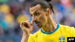 Zlatan Ibrahimovic lors du match amical entre la Suède et le Pays de Galles au Friends Arena à Solna près de Stockholm, le 5 juin 2016.