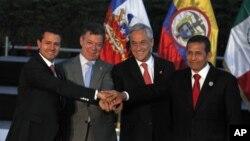 Los presidentes de México, Colombia, Chile y Perú se reúnen en Cali este jueves.