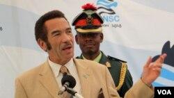Bostwana president Ian Khama.