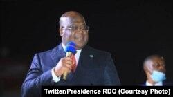 Le président Félix Tshisekedi à Lubumbashi, Haut-Katanga, 12 mai 2021, (Twitter/Présidence RDC)