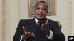 FILE - President of the Republic of Congo, Denis Sassou-Nguesso.