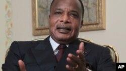 Shugaban Jamhuriyar Congo, Denis Sassou-Nguesso wanda yake son ya canza kundun tsarin mulkin kasar domin ya yi tazarce
