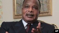 Shugaban Jamhuriyar Kwango, Denis Sassou-Nguesso wanda ya ci zaben raba gardama akan kundun tsarin mulkin kasar