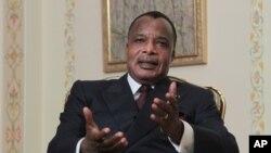 L'adoption de la nouvelle constitution pourrait permettre au président Denis Sassou Nguesso de briguer un autre mandat. (AP Photo/Maxim Shipenkov)