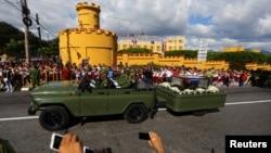 古巴前领导人菲尔德·卡斯特罗的骨灰安葬仪式